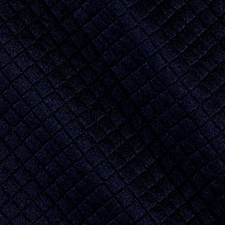 TELIO Navy Mini Quilted Knit Diamond Fabric by The Yard