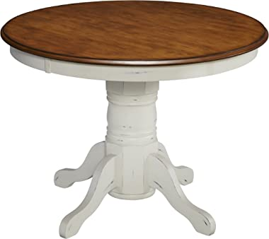 """French Countryside Oak/ White 42"""" Round Pedestal Table by Home Styles"""