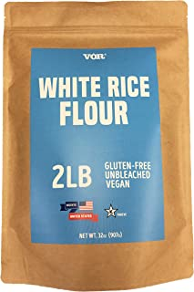 Vor White Rice Flour (2 Pounds) | Gluten Free | Unbleached | Vegan | Flour Alternative