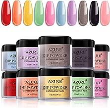 Dip Powder Nail Set for Nail Art 10 Fruity Colors Collection, Dip Powders Nails for French Nail Manicure Nail Art Set Essential Set No UV/LED Nail Lamp Needed