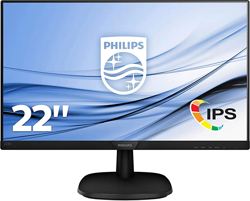 Philips 223V7QHAB/00 - Monitor IPS de 21.5 con Altavoces (Full HD 1920x1080 Sin bordes Flicker Free Low Blue Mode VESA VGA + HDMI)