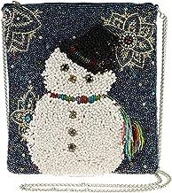 Mary Frances Worth Melting for Beaded Snowman Crossbody Handbag