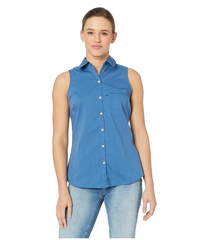 Columbia PFG Harborside Woven Sleeveless Shirt (Impulse Blue) Women