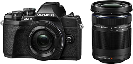 Olympus OM-D E-M10 Mark III Kit, Cámara de Sistema Micro 4/3 (16 MP, Estabilizador de Imagen de 5 Ejes, Visor Electrónico) + Objetivo M.Zuiko 14-42mm EZ Zoom + M.Zuiko 40-150mm Telezoom, negro