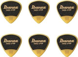 Ibanez PPA16HSGYE Wizard Series, Sand Grip Picks 6 Pack 1.0mm, Yellow 1.0mm Yellow