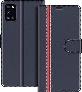 Funda Cartera Samsung Galaxy A42 Funda Libro para Samsung Galaxy A42 5G con Tapa Azul Marino Mulbess Funda para Samsung Galaxy A42