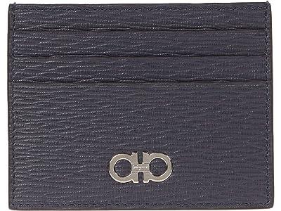 Salvatore Ferragamo Revival Gancio Bicolor Card Holder