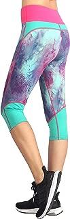Sugar Pocket Women's Workout Pants Capri Galaxy Leggings