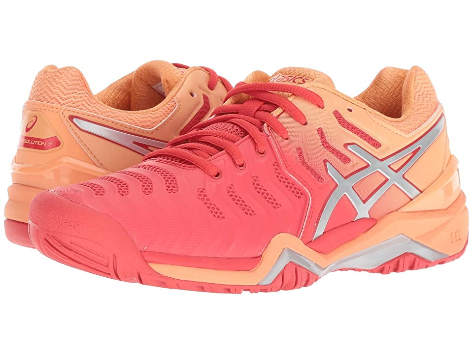 ASICS Gel-Resolution 7 (Red Alert/Silver) Women