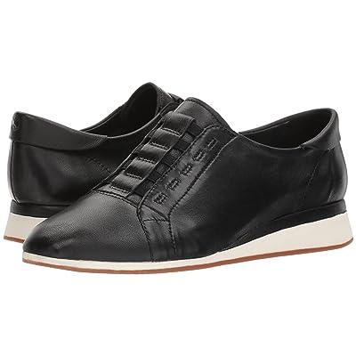 Hush Puppies Evaro Slip-On Oxford (Black Leather) Women