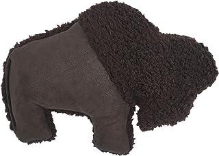 West Paw Big Sky Bison Plush Dog Toy, Chocolate