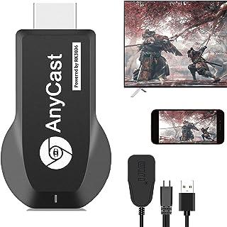 【2021アップグレード最新】Anycast 4K HDMI iOS&Android クロームキャスト 無線HDMIアダプター iPhone Android スマホ ミラーリング YouTubeのPCや自分で撮った動画 、写真をテレビやモニター...