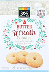 365 Everyday Value, Butter Wreath Cookies, 6 oz