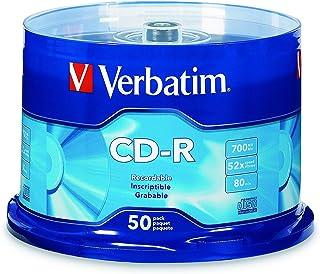 Verbatim CD-R 700MB 80 Minute 52x Recordable Disc - 50 Pack, Silver