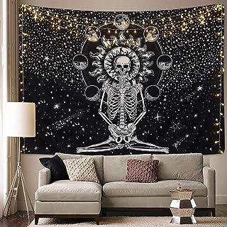 Sevenstars Skull Tapestry Meditation Skeleton Tapestry Chakra Tapestry Starry Tapestry..