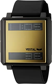 Vestal 'Transom' Quartz Stainless Steel and Polyurethane Casual Watch, Color:Black (Model: TRADR07)