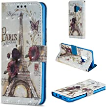 Galaxy S9 Plus Case, Galaxy S9+ Case Fashion Premium PU Leather Wallet Magnetic Flip Cover Painted Pattern with Card Slot Stand for Samsung S9Plus 2018 6.2
