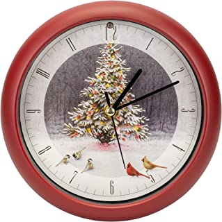 Mark Feldstein Christmas Tree Bird Gathering Clock