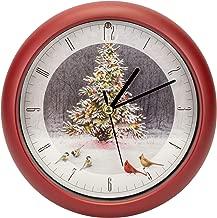 Mark Feldstein Christmas Tree Bird Gathering Clock