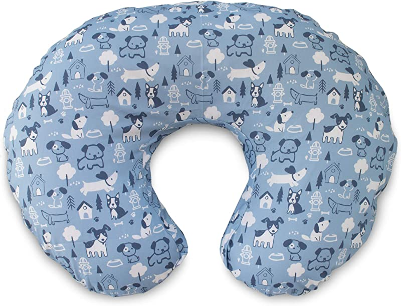 Boppy Original Pillow Cover Blue Dog Park Cotton Blend Fabric With Allover Fashion Fits ALL Boppy Nursing Pillows And Positioners