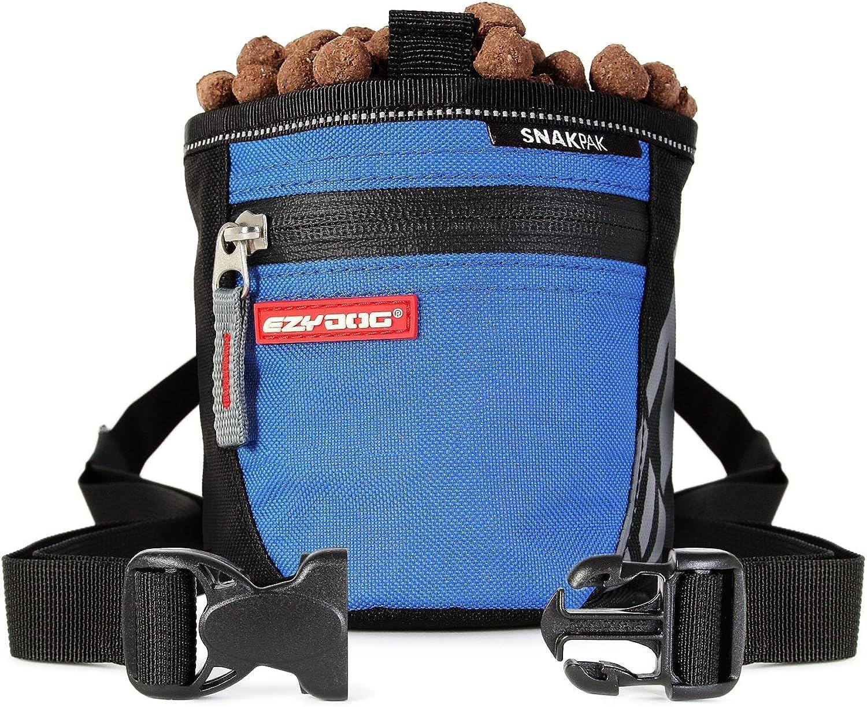 EzyDog SnakPak Wearable Dog Treat Bag Training Pouch with Belt (bluee)