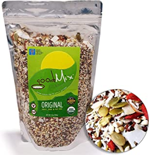 Blend 11 - Low FODMAP Certified / IBS Relief Organic High Fiber Cereal - goodMix Superfoods - 25 oz resealable pack
