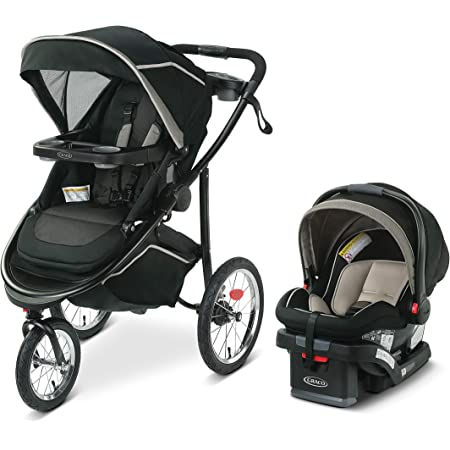 Graco Modes Jogger 2.0 Travel System   Includes Jogging Stroller and SnugRide SnugLock 35 LX Infant Car Seat, Haven