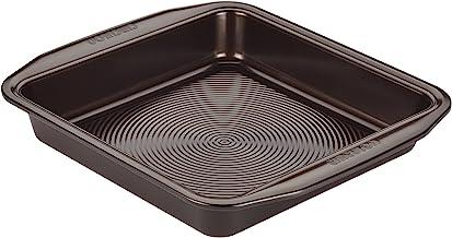 Circulon Nonstick Bakeware 9-Inch Square Cake Pan, Chocolate Brown