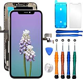 Compatible with iPhone Xs LCD Screen Replacement 5.8 inch (Model A1920, A2097, A2098,A2099, A2100) LCD Touch Screen Display Digitizer Repair Kit Assembly with Complete Repair Tools