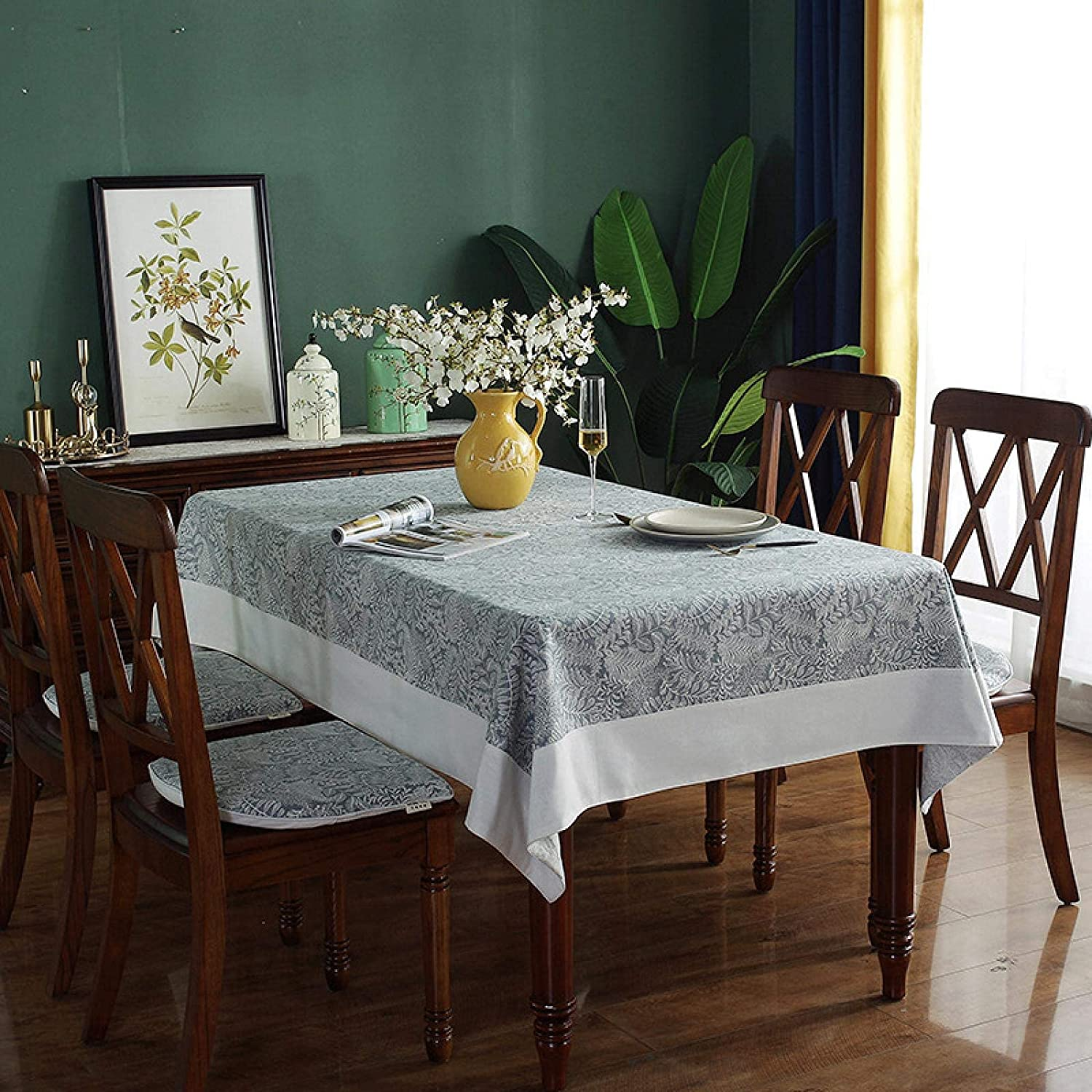Gcxzb Tablecloths New product!! Table Cloth American Light Fashionable Gray C Retro