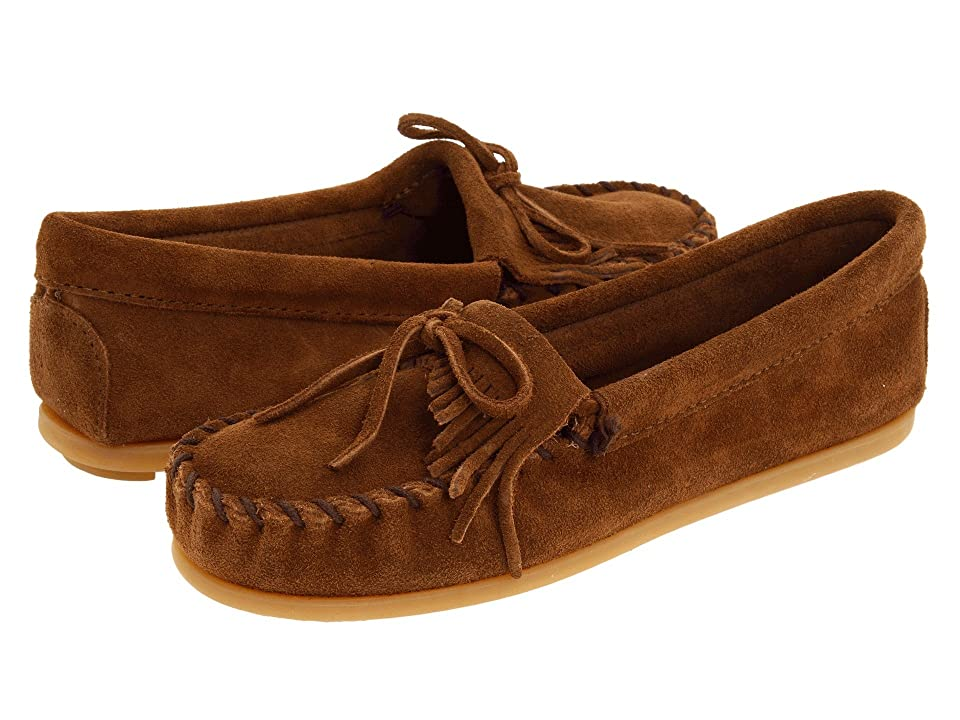 Minnetonka Kids Kilty Suede Moc (Toddler/Little Kid/Big Kid) (Dusty Brown Suede) Kids Shoes