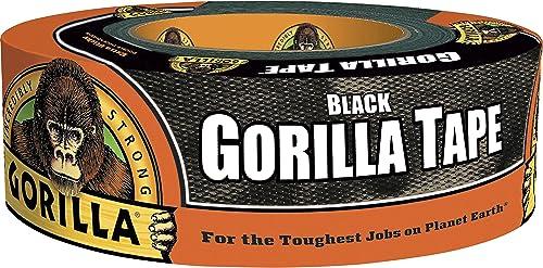 "Gorilla Black Duct Tape, 1.88"" x 35 yd, Black, (Pack of 1)"