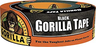 Gorilla Tape, Duct Tape, Utility Tape, Triple Layer Strength, Indoor and Outdoor, Weather Resistant Shell, 48mm x 32m, Bla...