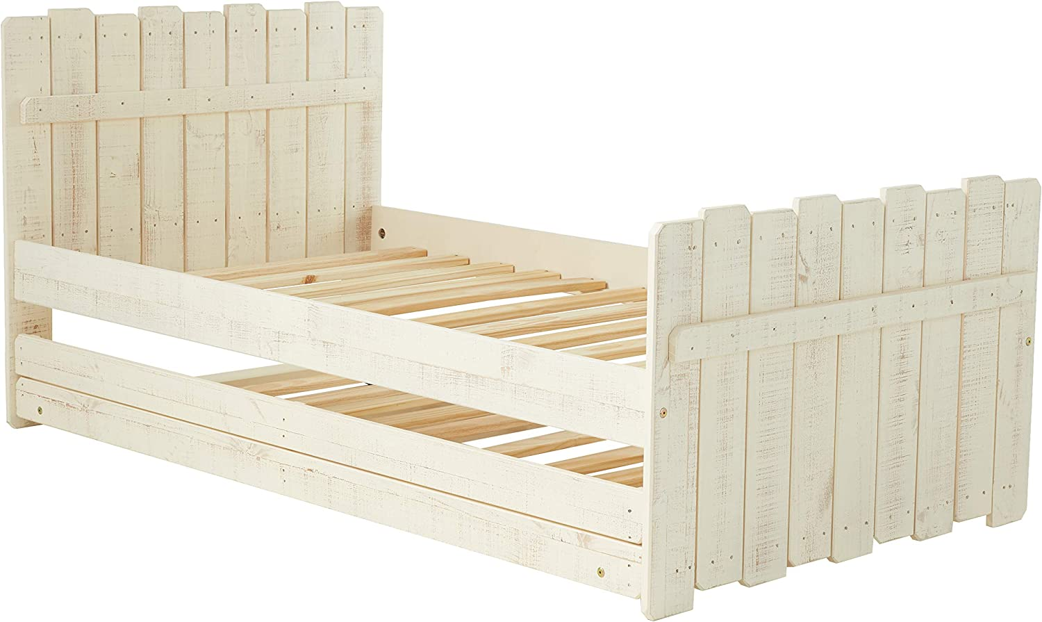 Donco Kids Tree House Trundle Bed Rustic Sand, Twin,