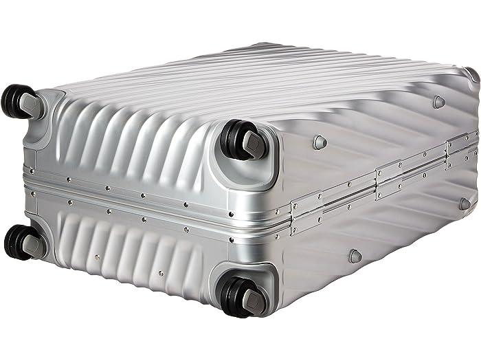 19 Grado De Tumi Aluminio Extendido Caja Embalaje Viaje Silver Luggage