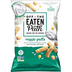 Off the Eaten Path Veggie Puffs Sour Cream & Onion, 4.5oz