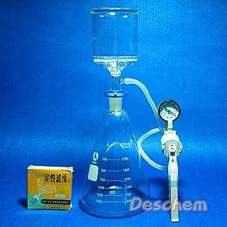 Deschem 2000ml,Suction Filtration Unit,90mm Buchner Funnel,2 Litre Flask & Vacuum Pump