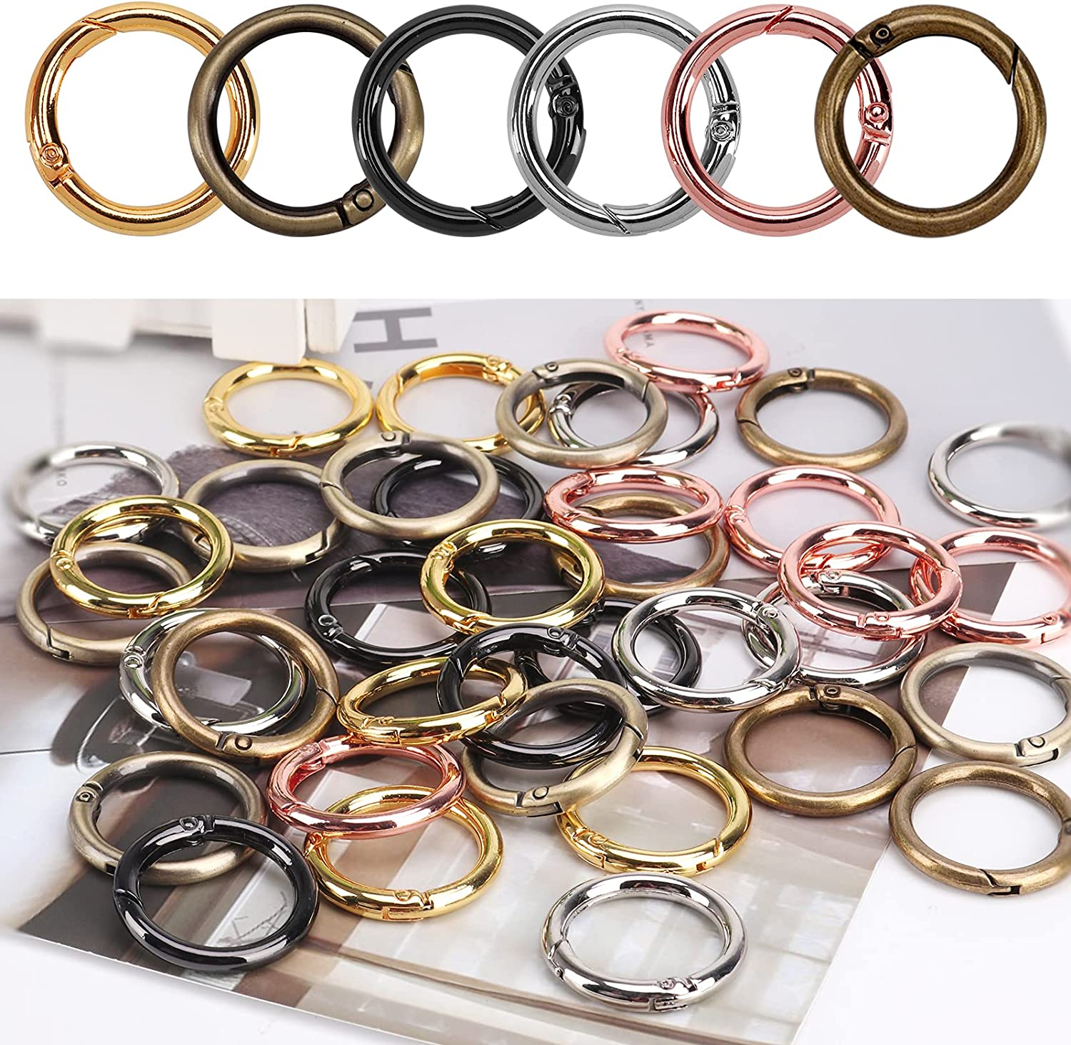 Max 88% OFF O Ring Spring Hooks Clip Set Round Cenoz Carabiner 28mm Recommendation Cli Snap