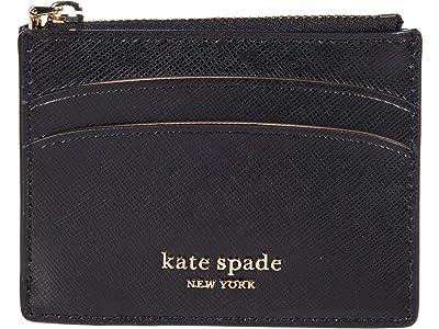Kate Spade New York Spencer Coin Card Case (Black) Handbags