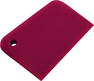 Kuhn Rikon Durable Silicone Bench/Cutting Board Scraper for Culinary Use, Red