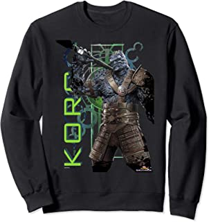 Marvel Thor Ragnarok Korg Green Symbols Sweatshirt
