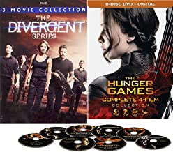 Worlds Divided Complete Series Hunger Games / Catching Fire / MockingJay DVD Katniss + Tris Divergent Film Series Trilogy / Insurgent / Allegiant 7 Epic Movies