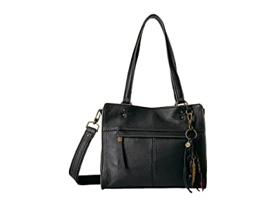 The Sak Alameda Leather Satchel (Black) Satchel Handbags