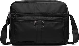 "Men & Women's Crossbody Bags, Schumarson Waterproof Ultra Light Nylon Laptop Bag for 15.6"" with Multi Zip Pocket Travel Purse"