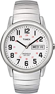 Timex Men's Easy Reader 35mm Stainless Steel Expansion Silver-Tone Band Watch