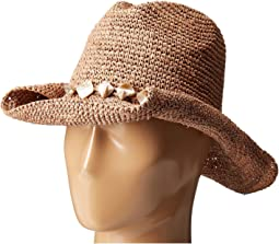 San Diego Hat Company - RHC1080 Crochet Raffia Hat with Beaded Trim