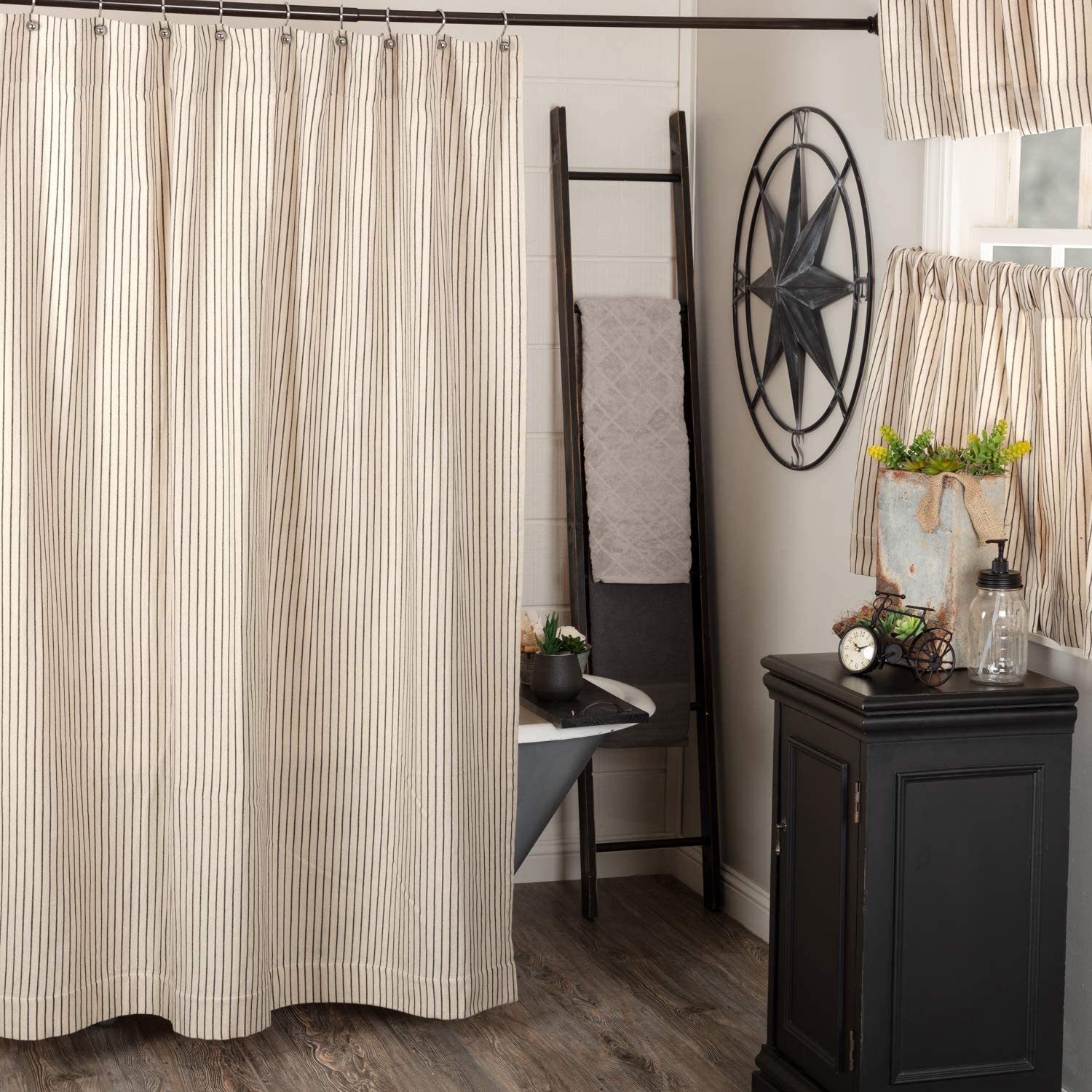 Piper Classics Katie's Vintage Stripe Some reservation Wide Curtain x 72