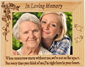 FAYERXL Engraved Wood Picture Frame Good Friend Photo Frame Gift Ideas to My Grandpa Friend Husband Wife Dad Son (5x7 Inch in Loving Memory)