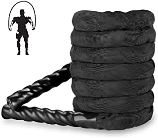 Weighted Jump Rope, 10FT Battle Rope Workout Equipment, Skipping Rope for Weight Loss and Strength, Total Body Skipping Ro...