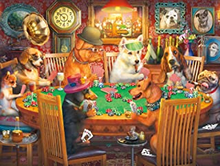 Buffalo Games - A Dog's Life - Poker Pups - 750 Piece Jigsaw Puzzle